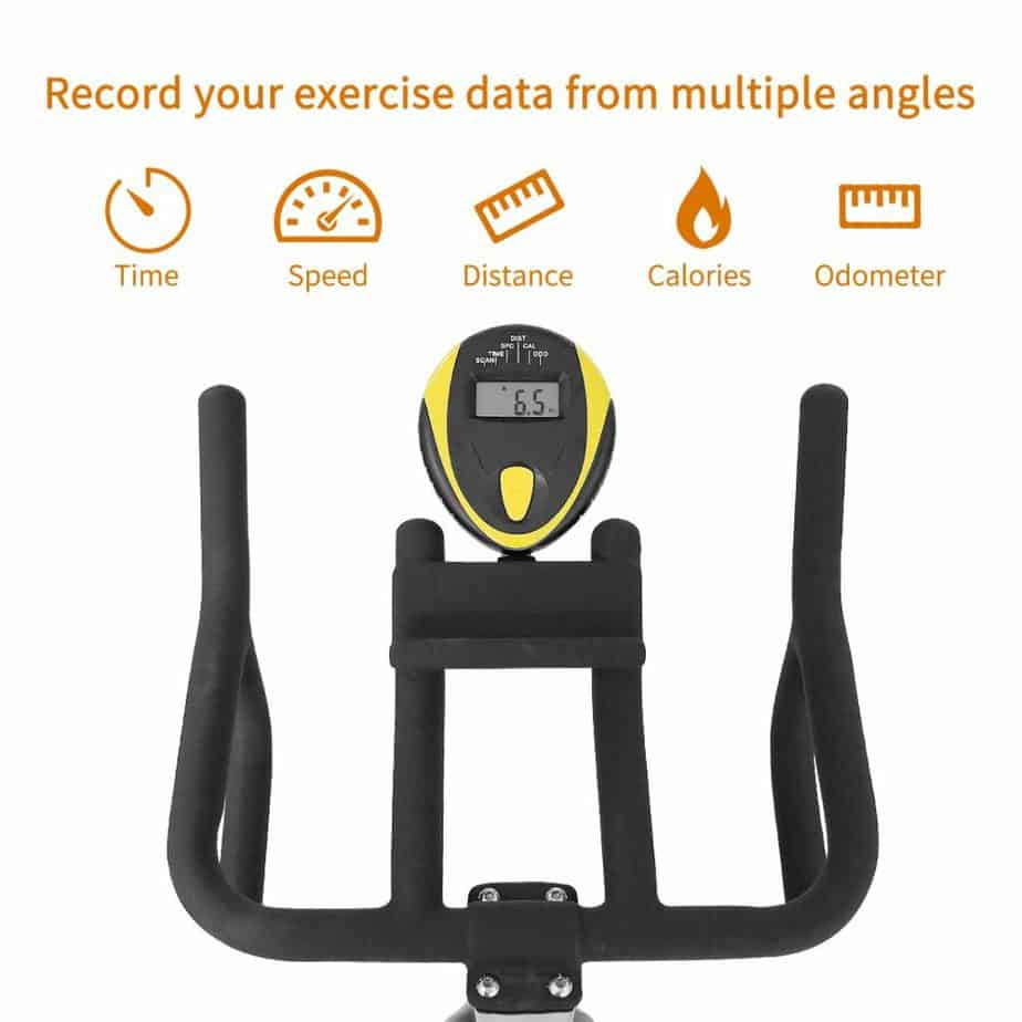 The monitor of the Cyclace Indoor Exercise Bike