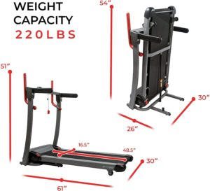 Sunny Health & Fitness Folding Electric Treadmill SF-T7909