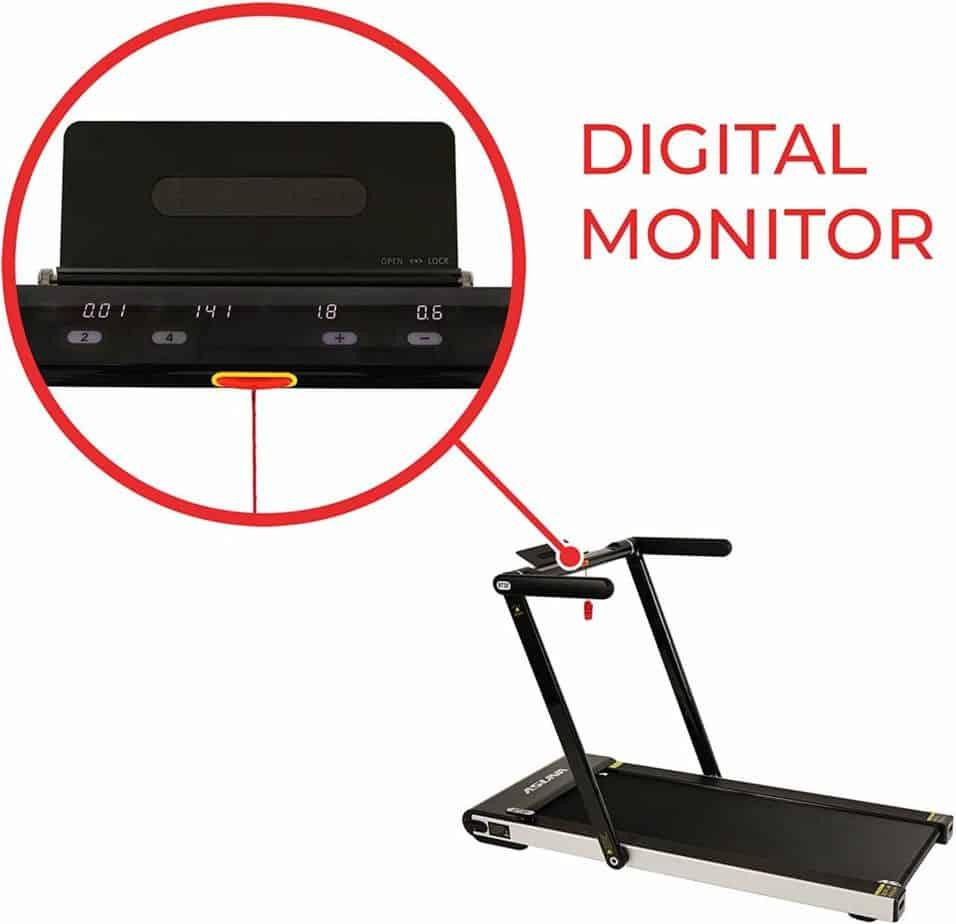 The console of the Sunny Health & Fitness ASUNA 8730 Treadmill