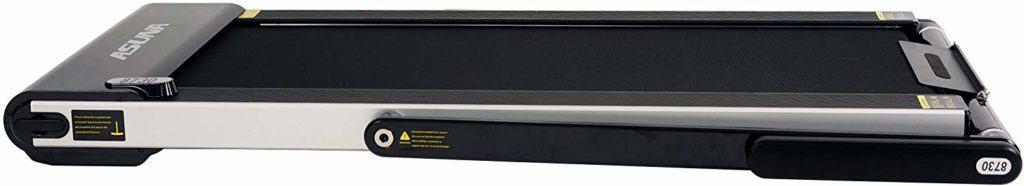 The folded Sunny Health & Fitness ASUNA 8730 Treadmill