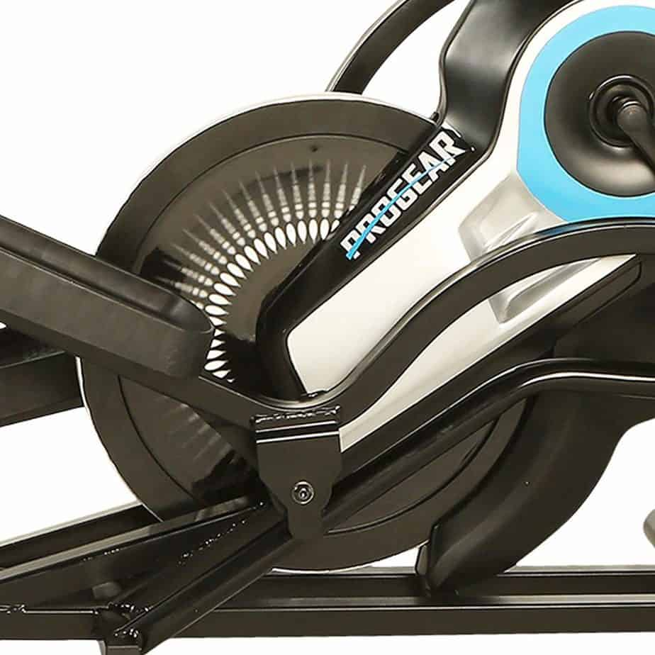 The drive and resistance system of the ProGear 9900 Stepper Elliptical Trainer
