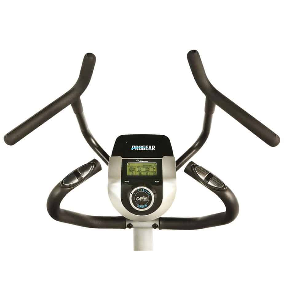 The handlebars of the ProGear 9900 Stepper Elliptical Trainer