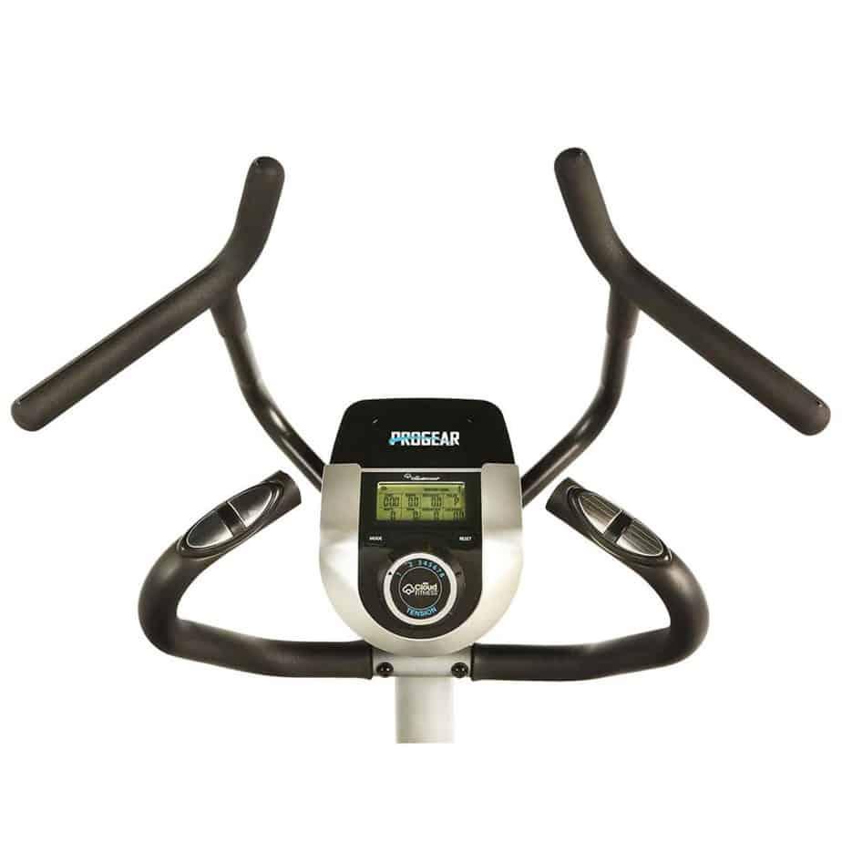 The handlebars of the ProGear 9900 Stepper Elliptical Trainer