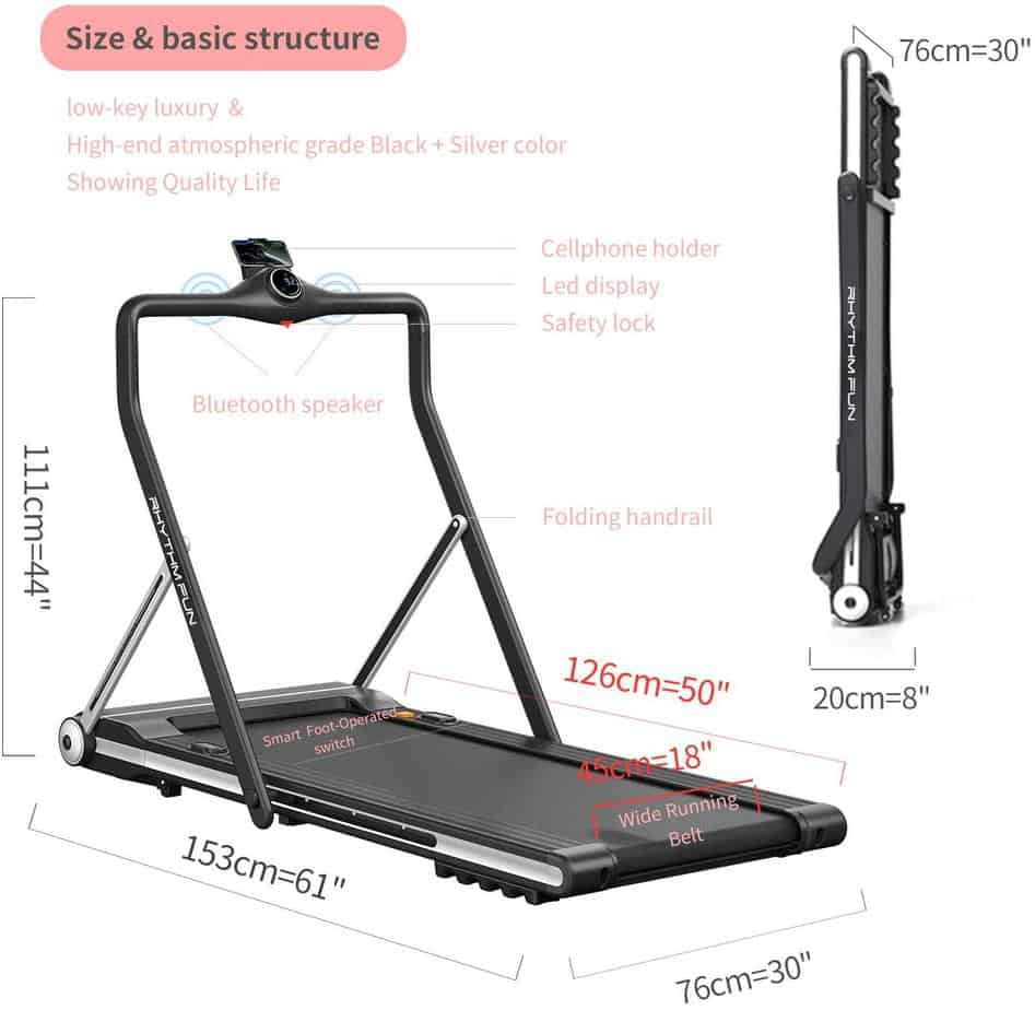 RHYTHM FUN Folding Under-Desk Treadmill Review
