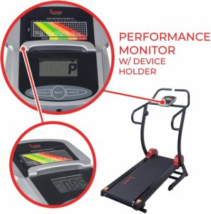 The console of the Sunny Health & Fitness SF-T7878 Treadmill