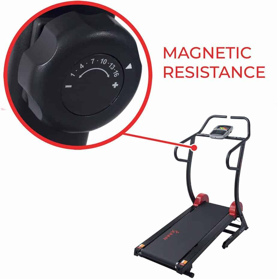 Resistance control knob of the Sunny Health & Fitness SF-T7878 Treadmill