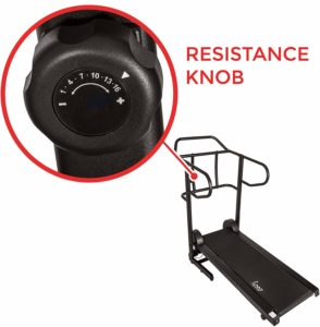 The resistance control of the Sunny Health & Fitness SF-T7723 Treadmill