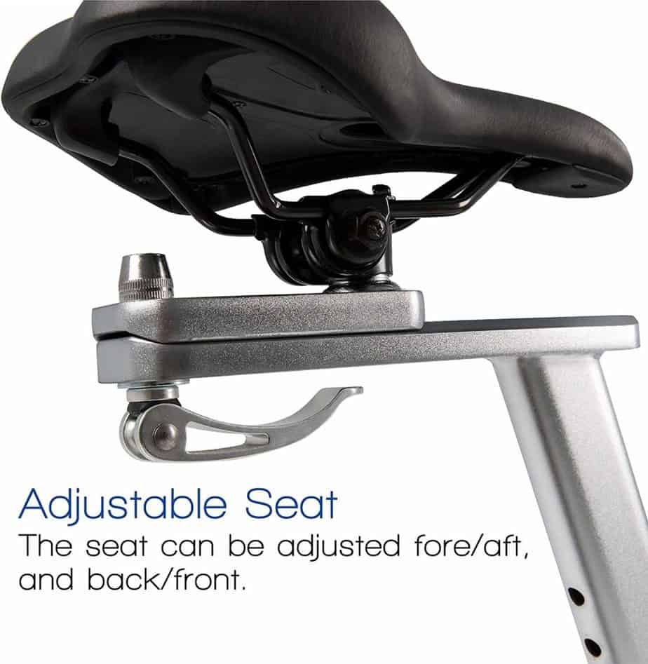 The seat of the XTERRA Fitness AIR650 Airbike Pro