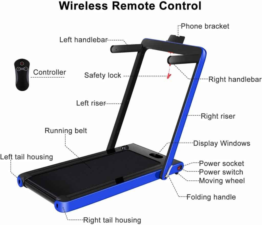 OppsDecor 2-in-1 Under-Desk Treadmill