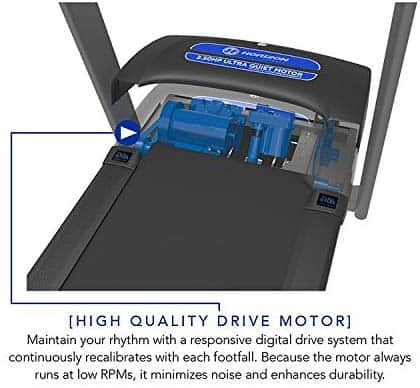 Motor of the Horizon T101 Treadmill (2018)