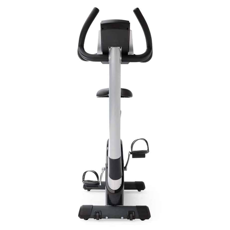 The 3G Cardio Elite UB Upright Bike's front view