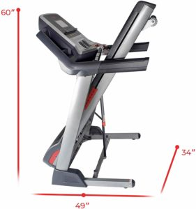 Folded Sunny Health & Fitness SF-T7820 Treadmill