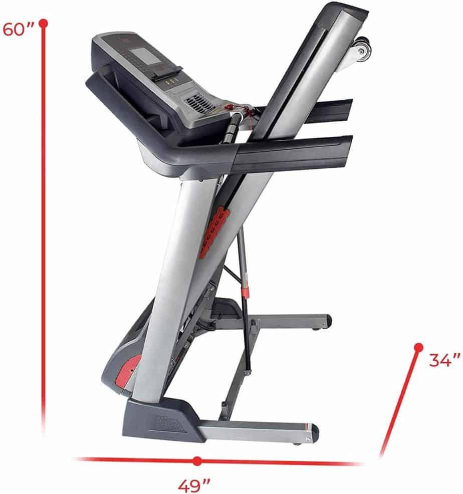 Folded Sunny Health & Fitness SF-T7820 Treadmill