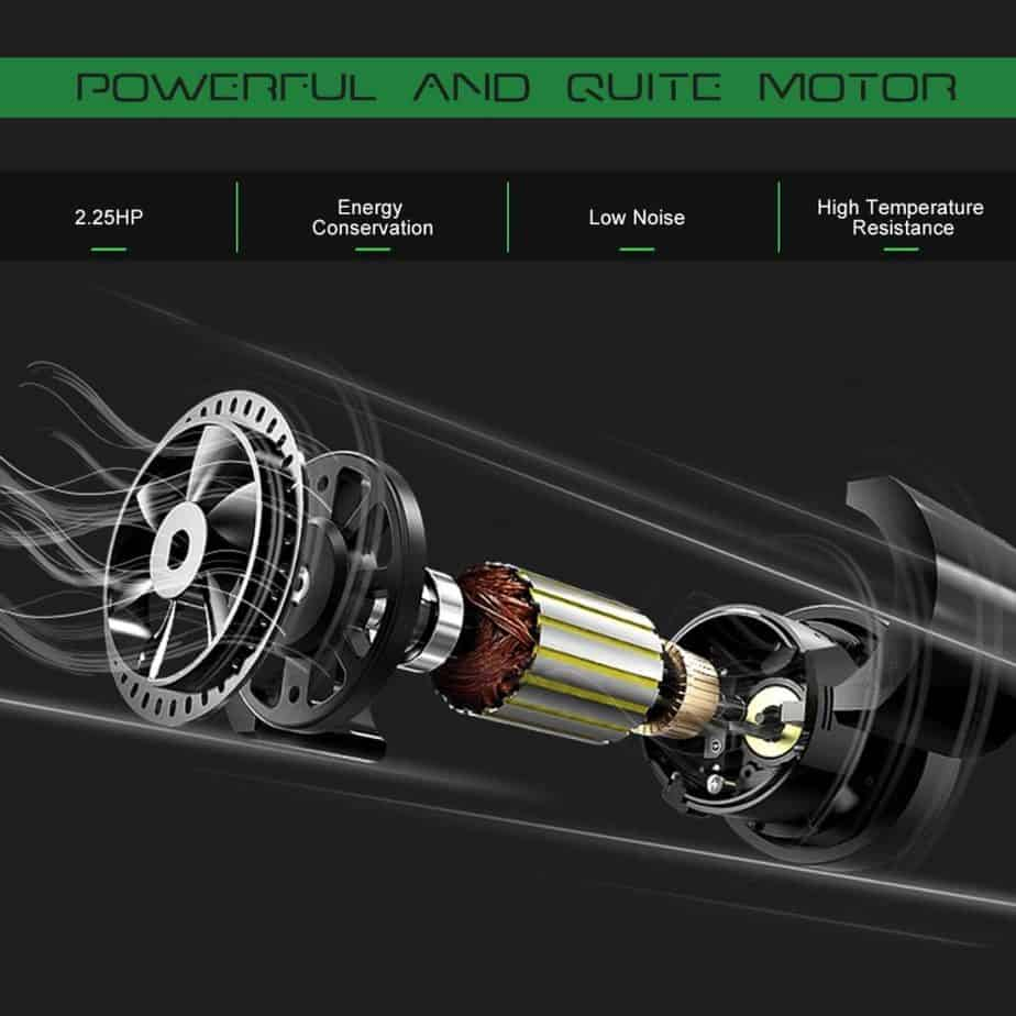 The motor of the Goplus 2 in 1 Folding Treadmill