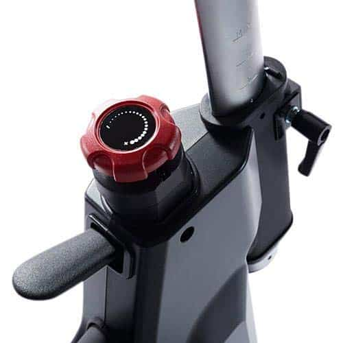 The resistance tension knob of the SOLE SB900 Indoor Exercise Bike