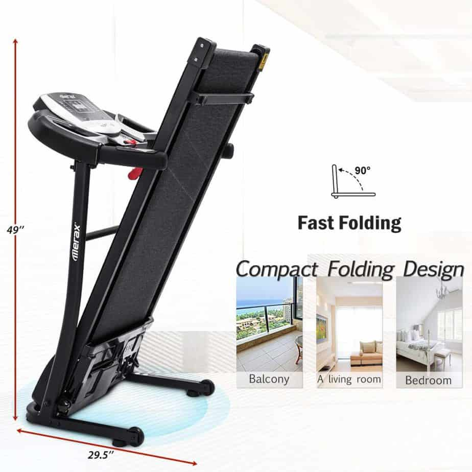 Folded Merax Folding Treadmill