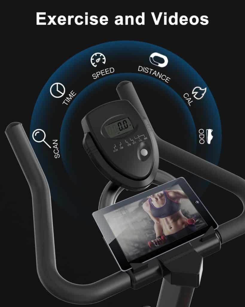 The console of the BARWING Indoor Exercise Bike