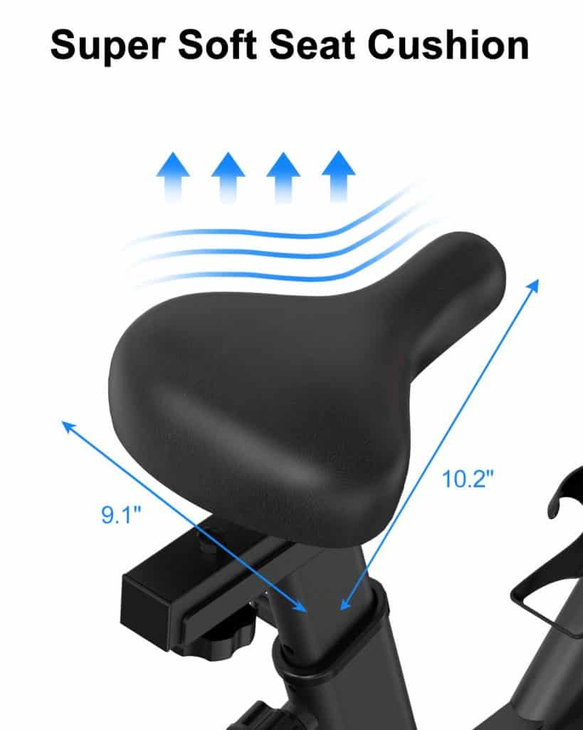 The seat of the BARWING Indoor Exercise Bike