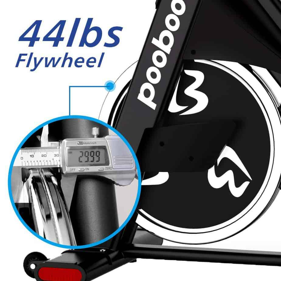 The drive of the Pooboo D578 Indoor Cycling Bike