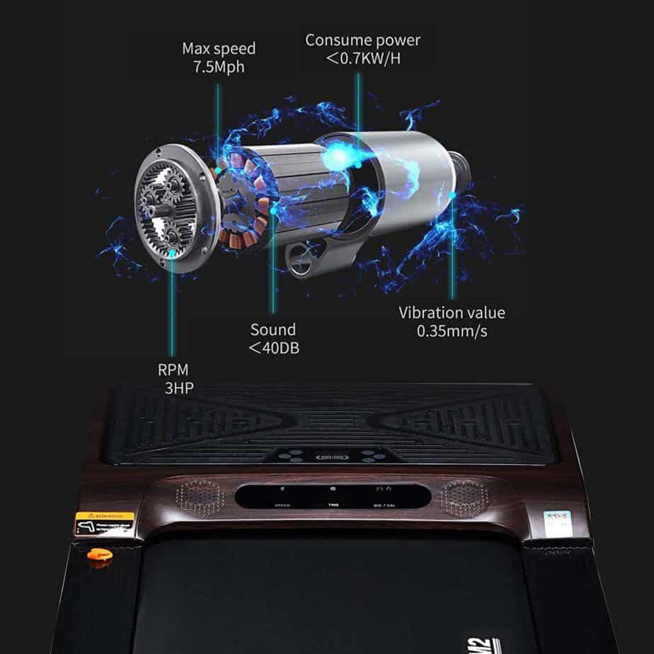 The 3.0 horsepower motor of the Egofit M2 Treadmill