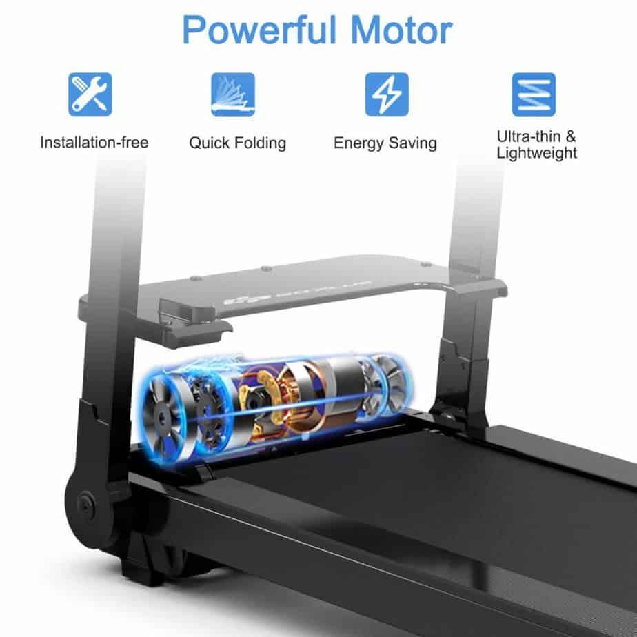 The motor of the Goplus Electric Folding Treadmill