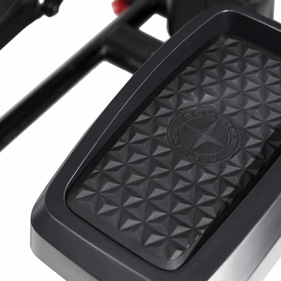 The pedal of the Schwinn 411 Compact Elliptical