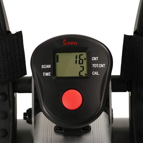 The LCD display of the Sunny Health and Fitness SF-RW5720 Incline Slide Rower