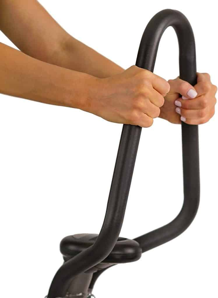 The handlebar of the Sunny Health and Fitness SF-1115 Folding Climbing Stepper