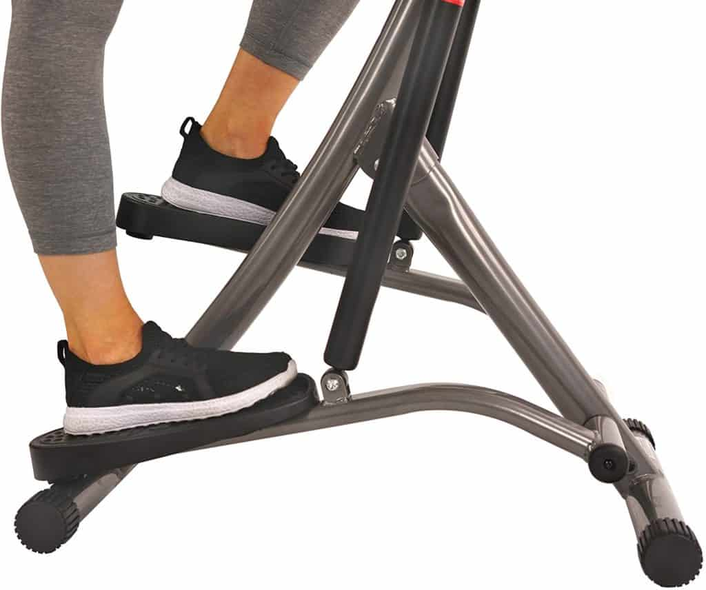 The pedals of the Sunny Health and Fitness SF-1115 Folding Climbing Stepper