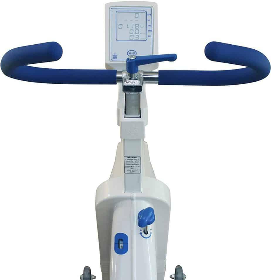 The handlebar of the Monark Exercise AB 827E Cycling Bike