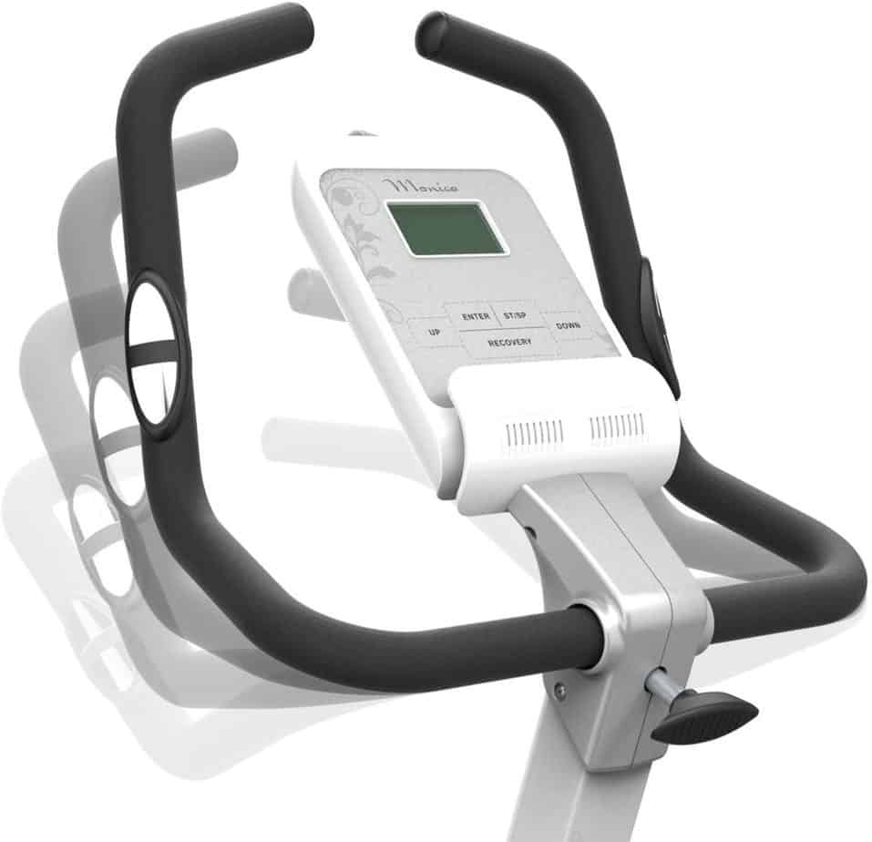 The adjustable handlebar of the HARISON B5 Upright Magnetic Bike