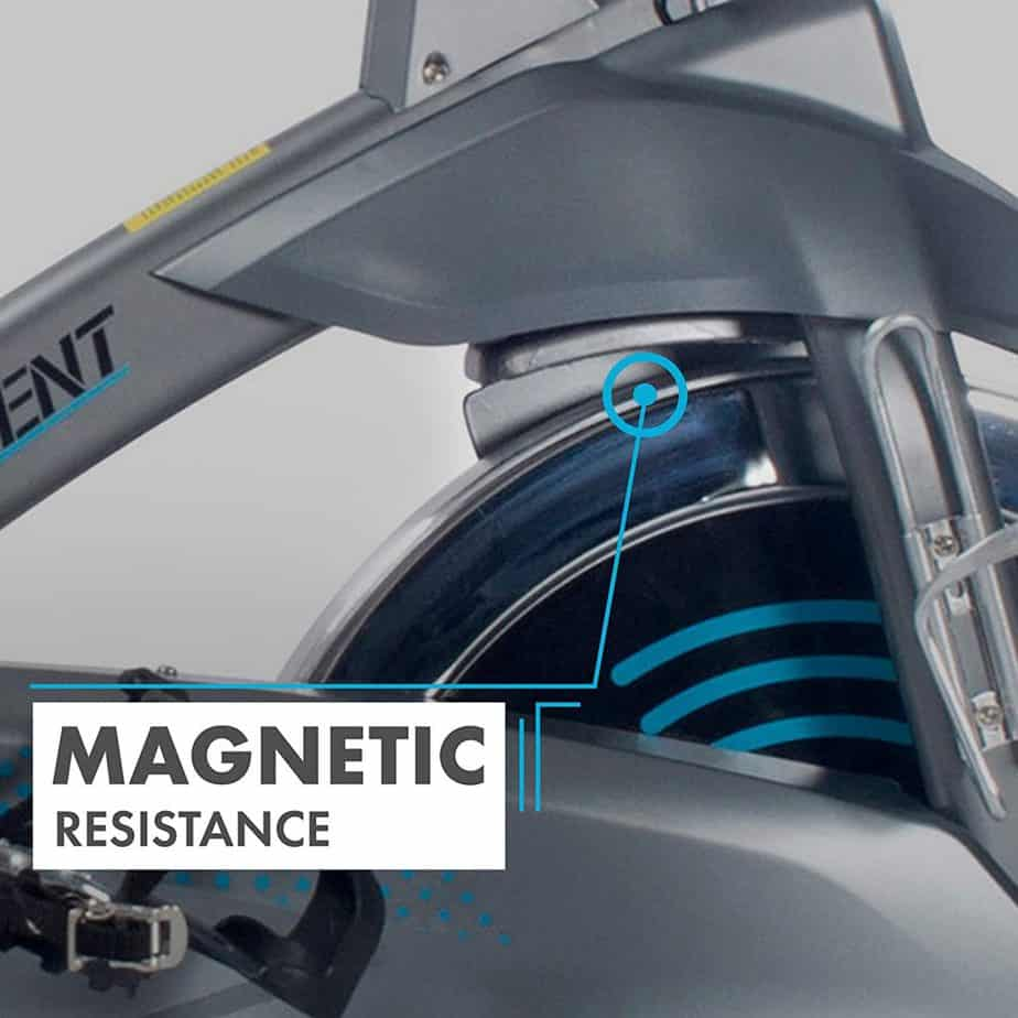 The magnetic resistance of the EFITMENT IC037 Indoor Cycling Bike