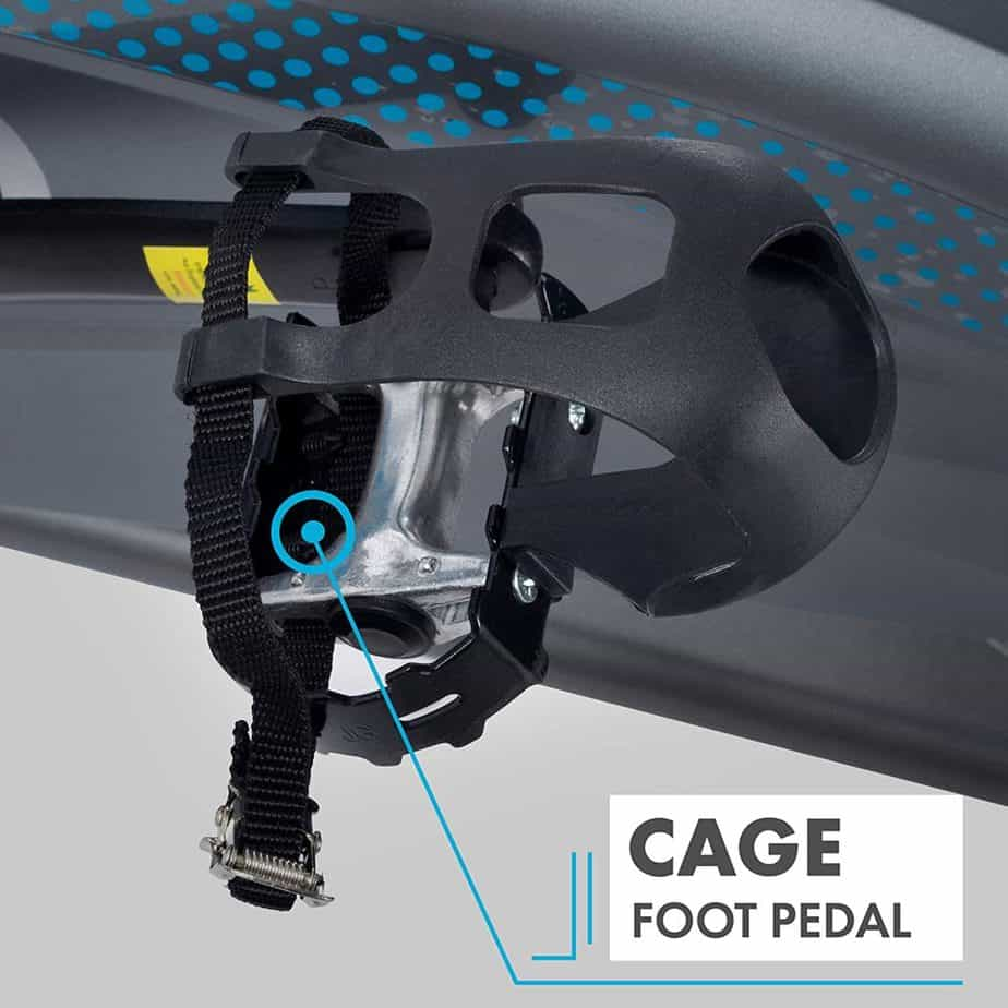The toe cage pedal of the EFITMENT IC037 Indoor Cycling Bike
