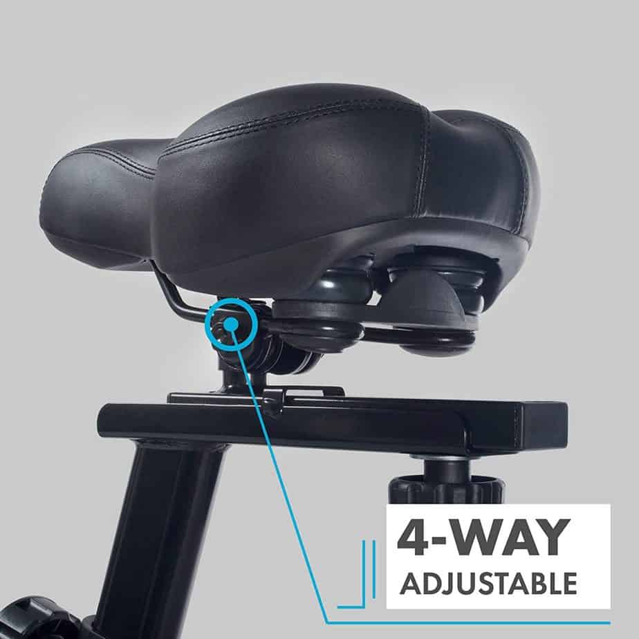 The seat of the EFITMENT IC037 Indoor Cycling Bike