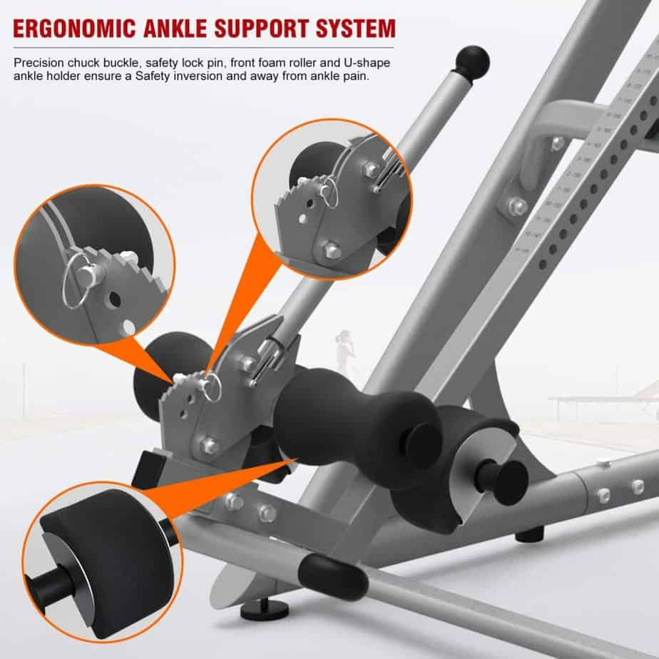 The pedal of the HARISON 407 Inversion Table