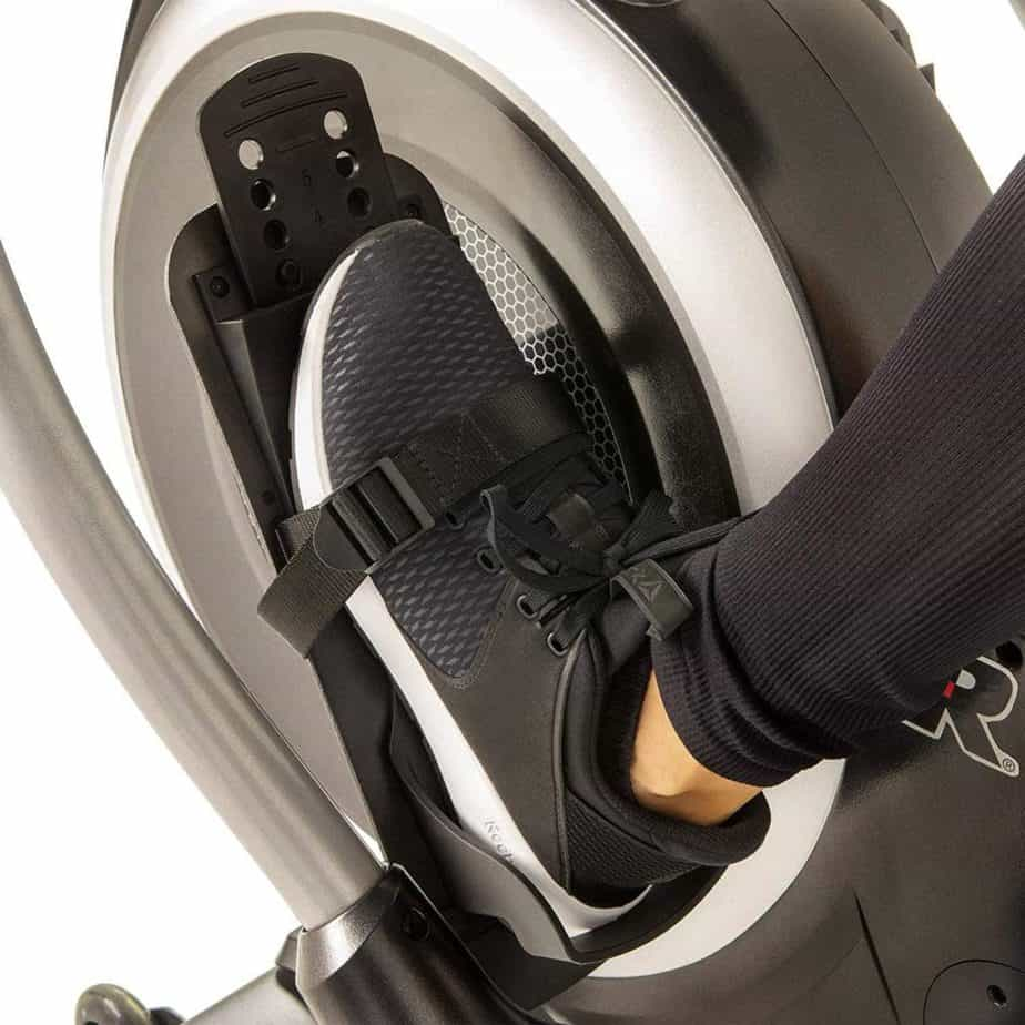 The pedals of the Fitness Reality 4000MR Magnetic Rower