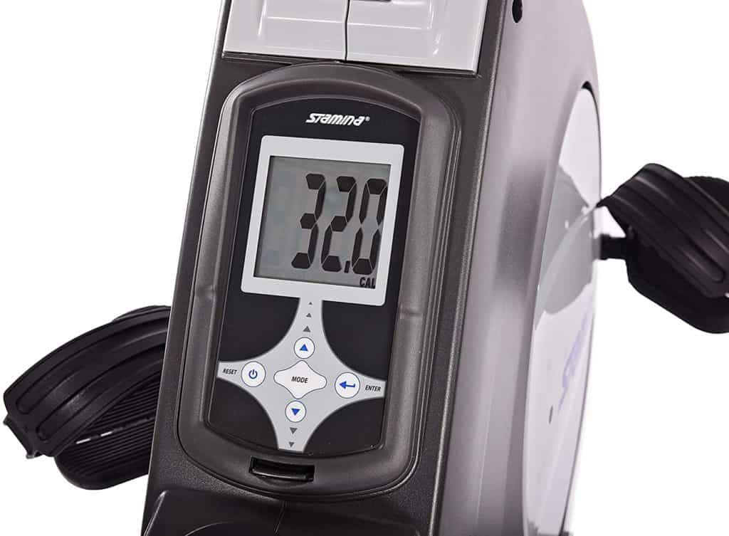 The console of the Stamina Conversion II Recumbent Bike/Rower