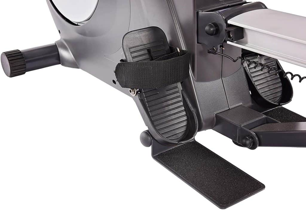 The footplate of the Stamina Conversion II Recumbent Bike/Rower