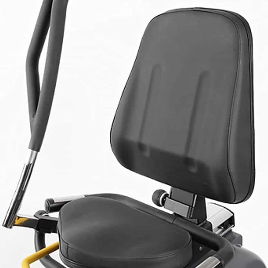 The seat of the HCI Fitness PhysioStep RXT-1000 Recumbent Elliptical Trainer