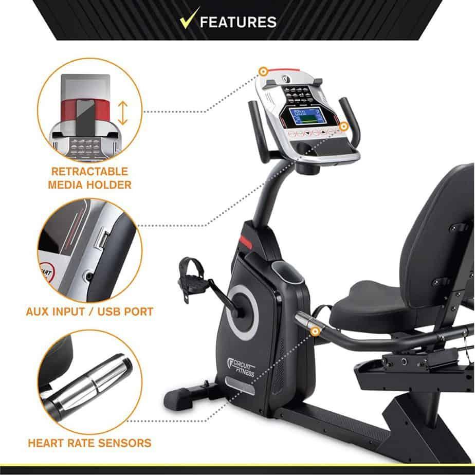 The Circuit Fitness AMZ-587R Magnetic Recumbent Bike