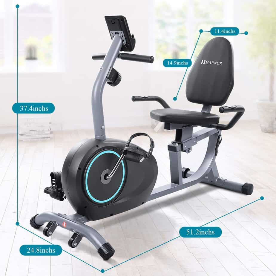 Marnur Recumbent Exercise Bike