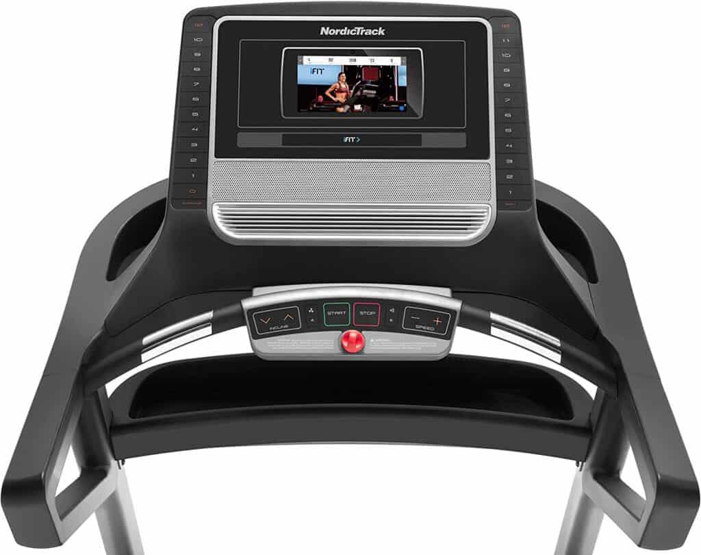 The console of the Nordic Track T 7.5 S Treadmill