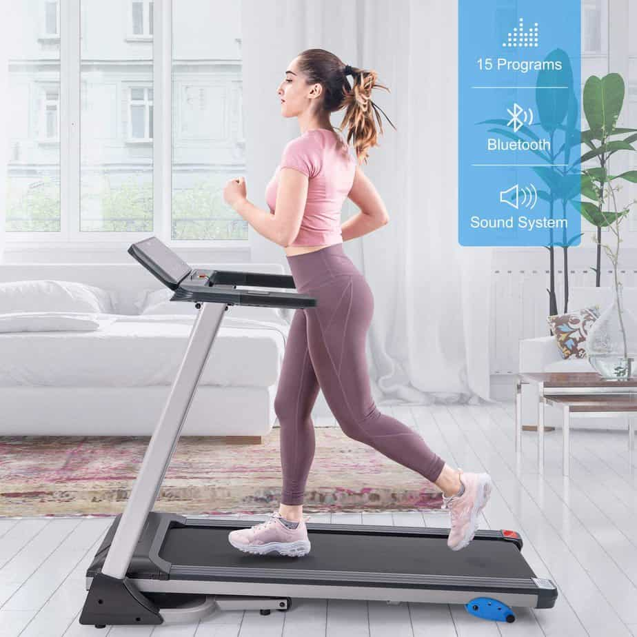 Merax Folding Electric Treadmill