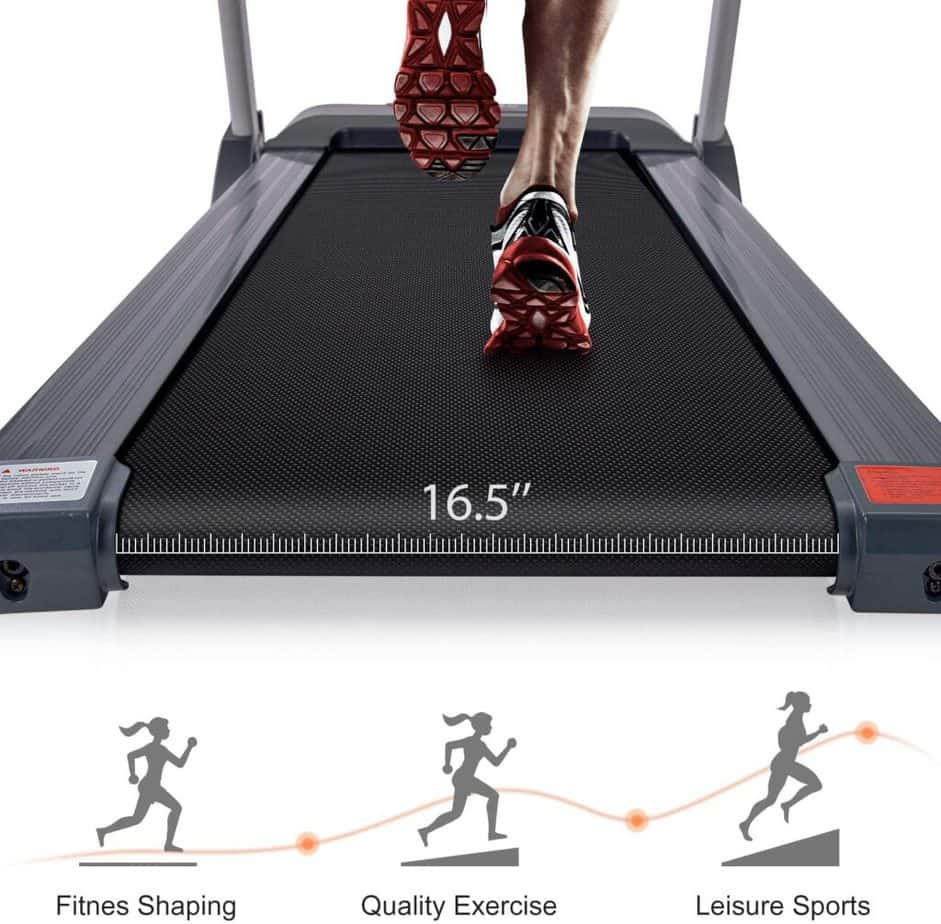 The deck of the Merax Folding Electric Treadmill