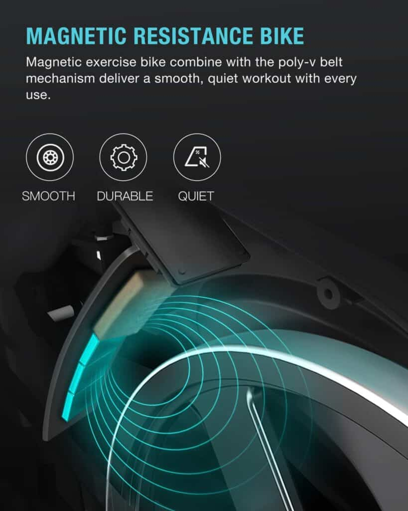 The magnetic resistance system of the OVICX XCycleQ200 Magnetic Stationary Spin Bike