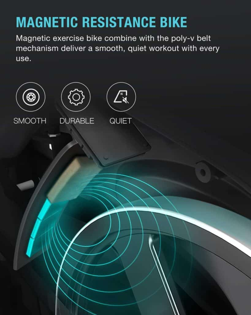 The magnetic brake pad of the OVICX XCycleQ100 Stationary Indoor Bike