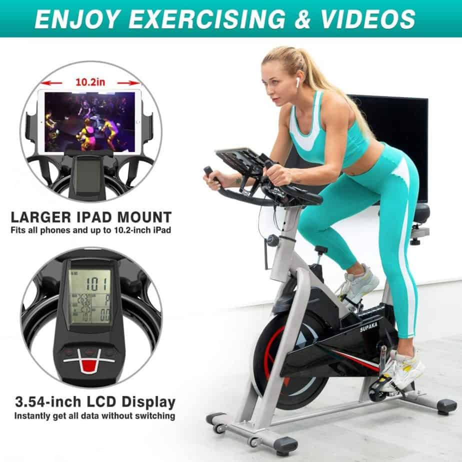 The console and the tablet holder of the SUPAKA Indoor Magnetic Spin Bike