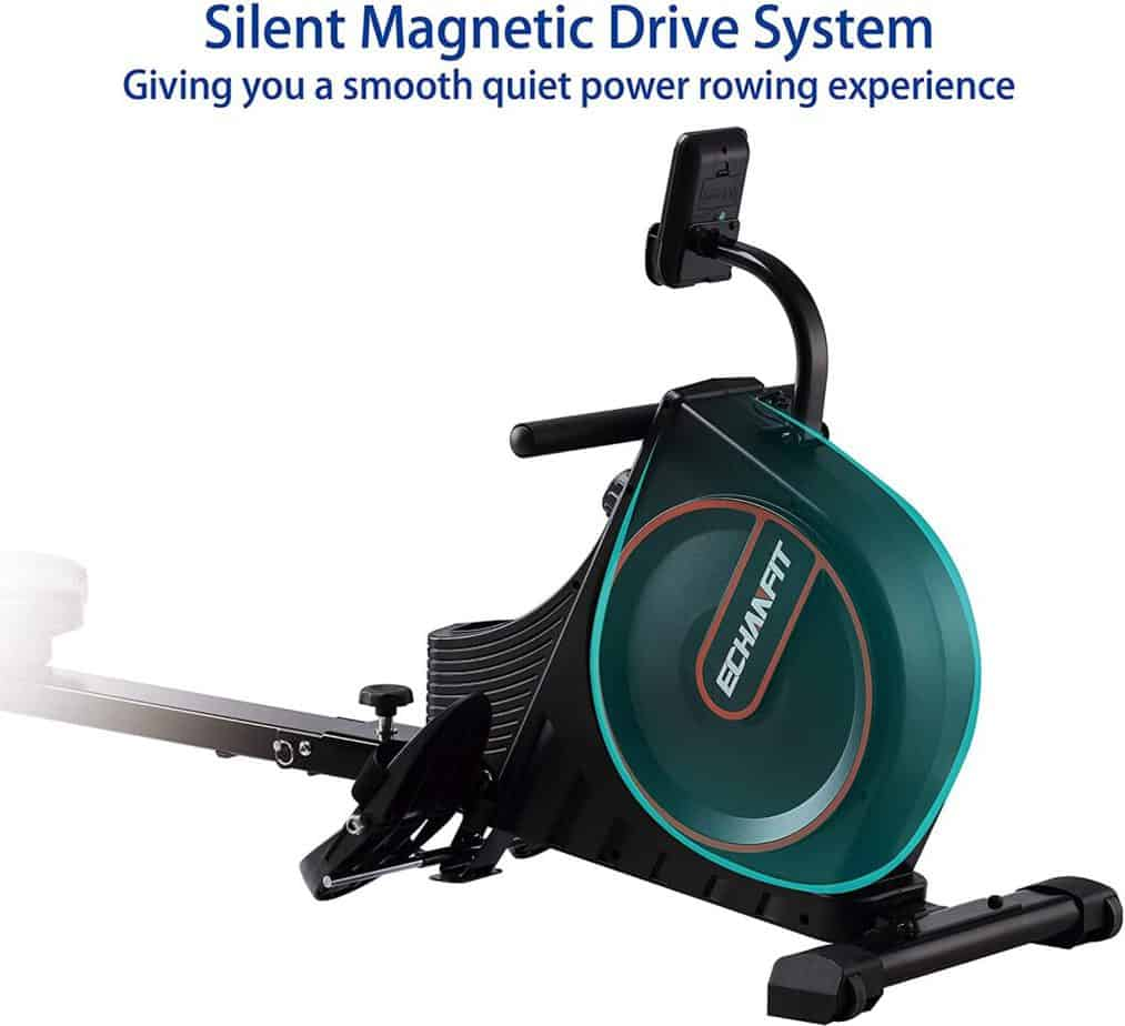 The drive of the ECHANFIT CRW 4901 Magnetic Rowing Machine