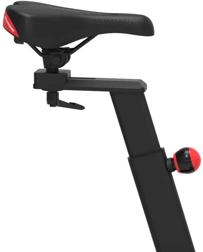 The seat of the Schwinn IC3 Indoor Cycling Exercise Bike
