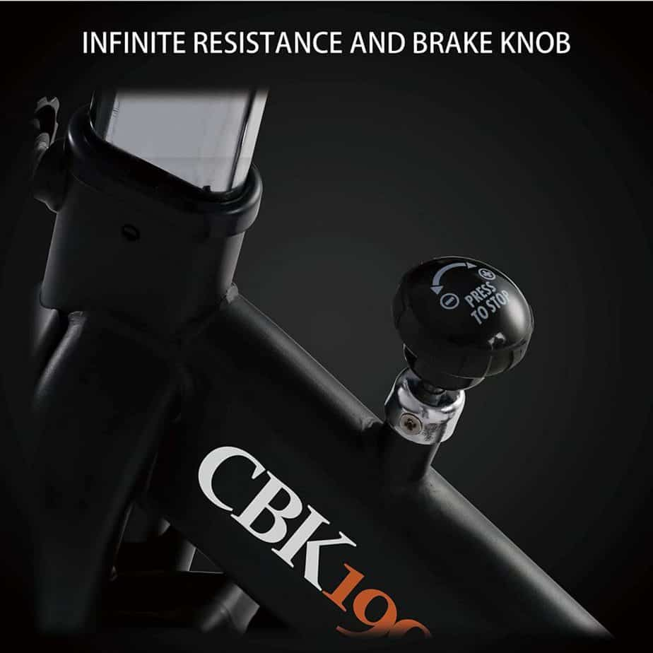 The resistance tension knob of the ECHANFIT CBK 1901P Magnetic Exercise Bike